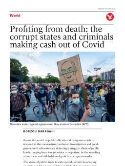 Profiting from death: the corrupt states and criminals making cash out of Covid