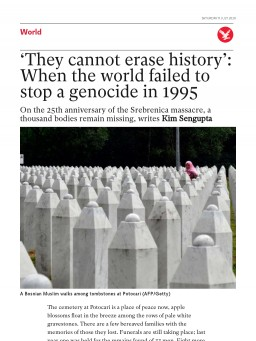 'They cannot erase history': When the world failed to stop a genocide in 1995