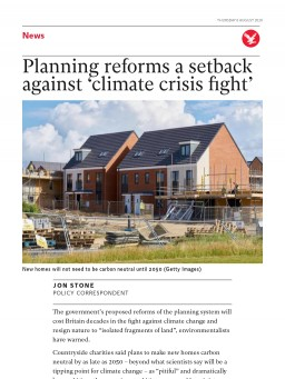 Planning reforms a setback against 'climate crisis fight'
