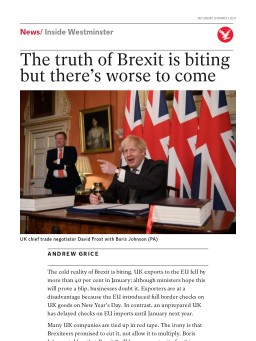 The truth of Brexit is biting but there's worse to come